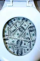 Dollarintoilet